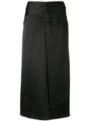 Isabel Marant Box Pleat Midi Skirt Women Ramie Viscose 36 Black