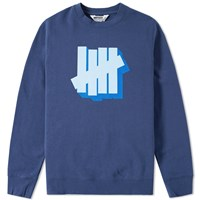Undefeated Shadowed Strike Crew Sweat Blue