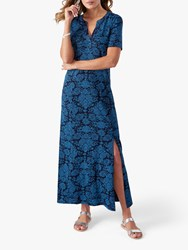 Pure Collection Jersey Maxi Dress Blue
