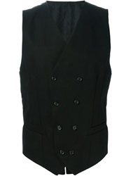 Dolce And Gabbana Double Breasted Waistcoat Black