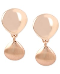 Kenneth Cole New York Rose Gold Tone Clip On Drop Earrings