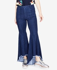 Rachel Roy Cropped Flare Leg Jeans Created For Macy's Dark Wash
