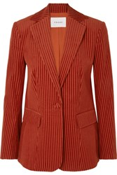 Frame Cotton Corduroy Blazer Red