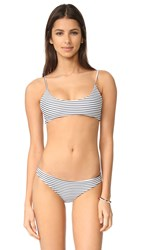 Mikoh Hermosa Basic Scoop Bikini Top Vintage Sailor Night