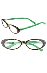 Lilly Pulitzer 'Splash' 50Mm Reading Glasses Green Tortoise Prep Green