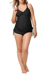 Women's Cake 'Shake' Tankini Maternity Nursing Swimsuit Black
