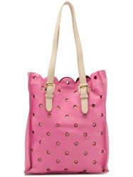 Moschino Cheap And Chic Perforated Tote Bag Pink