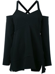 Proenza Schouler Cold Shoulder Top Black