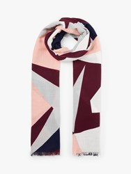 John Lewis Collection Weekend By Abstract Star Cotton Scarf Pink Mix