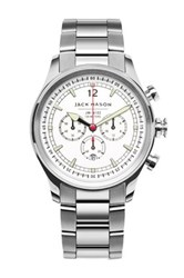 Jack Mason Brand Men's Nautical Chronograph Bracelet 42Mm Watch Metallic