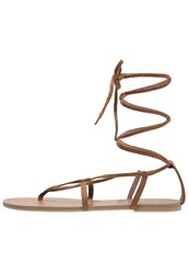 Dorothy Perkins Solo Tbar Sandals Brown