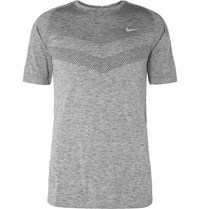 Nike Running Melange Dri Fit T Shirt Gray