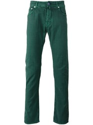 Jacob Cohen Straight Trousers Green