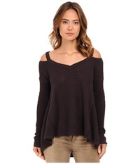 Free People Moonshine V Neck Charcoal Women's Sweater Gray