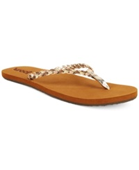 Reef Twisted Stars Flip Flops Women's Shoes Taupe Champagne