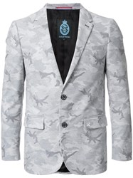 Guild Prime Camouflage Single Breasted Blazer Grey