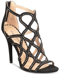 Bebe Daliyah Caged Dress Sandals Black