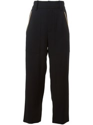 Chloa Cropped Trousers Blue