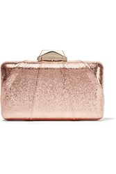 Kotur Espey Metallic Faux Textured Leather Clutch Pink Metallic