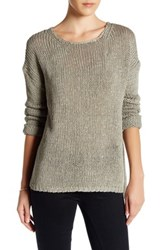 360Cashmere Krissy Knit Open Back Sweater Green