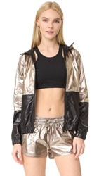 Alala Metallic Woven Jacket Rose Gold