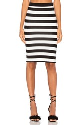 Central Park West Corfu Midi Skirt Black And White