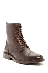 Joseph Abboud Phoenix Tall Leather Boot Brown