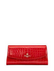Aspinal Of London Eaton Clutch With Pin Branding Red