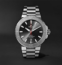 Oris Aquis Date Relief Automatic 43.5Mm Stainless Steel Watch Black