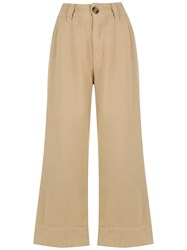 Osklen Cropped Trousers Neutrals