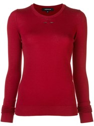 Barbara Bui Slim Fit Jumper Red