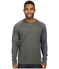The North Face Long Sleeve Copperwood Crew Rosin Green Heather Asphalt Grey Heather Men's Clothing Gray