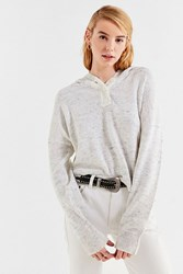 Urban Outfitters Uo James Button Up Hoodie Sweater Grey