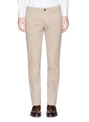 Lardini Stretch Twill Chinos Neutral