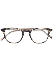 Oliver Peoples Hanks Round Frame Glasses Acetate Brown