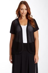 Vince Camuto Open Front Cardigan Plus Size Black