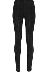 Balmain Suede Leggings Black