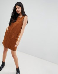 Deby Debo Kate Suedette Shift Dres Brown