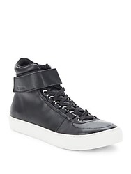 K Swiss Leather Platform Sneakers Black Off White