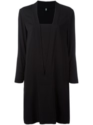 Eleventy Square Neck Dress Black