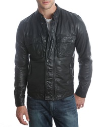 Lucky Brand Ace Leather Jacket Black
