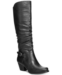 Bare Traps Rosemary Wide Calf Tall Boots Women's Shoes Black