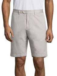 Saks Fifth Avenue Cotton And Linen Blend Shorts Grey
