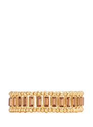 Philippe Audibert 'Titia' Crystal Metal Bead Elastic Bracelet Orange