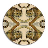 Avenida Home Patch Nyc Wildlife Coaster Tiger