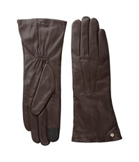 Cole Haan Long Leather Gloves With Points And Tech Brown Extreme Cold Weather Gloves