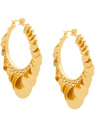 Paula Mendoza Embera Hoop Earrings Metallic