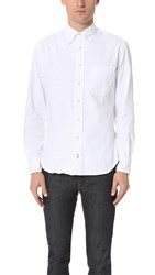 Gitman Brothers Vintage Button Down Denim Shirt White