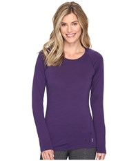 Smartwool Merino 150 Baselayer Long Sleeve Mountain Purple Women's Clothing