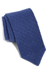 The Tie Bar Knit Linen And Cotton Navy